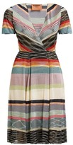 Missoni V-neck Lame-striped Midi Dress - Womens - Black Multi