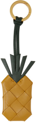 Bottega Veneta Yellow Intrecciato Pineapple Keychain