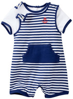 Little Me Anchor Shortall Shirt & Romper Set (Baby Boys)