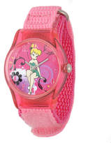 Disney Tinker Bell Kids Pink Nylon Strap Watch