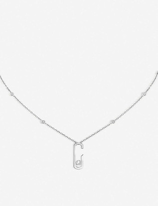 Messika Move Addiction 18ct white-gold and diamond necklace