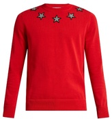 Givenchy Star-appliqué Cotton Sweater