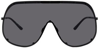 Rick Owens Black Shield Sunglasses