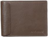 Steve Madden Mocha Leather Passcase Wallet