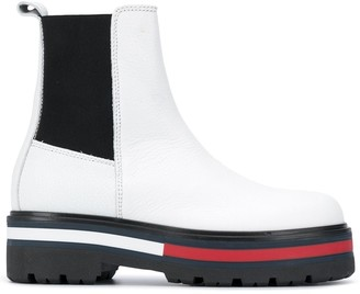 Tommy Jeans Striped Sole Boots