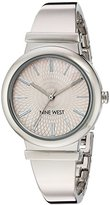 Nine West Women's Quartz Metal and Alloy Dress Watch, Color:Silver-Toned (Model: NW/1917PKSB)