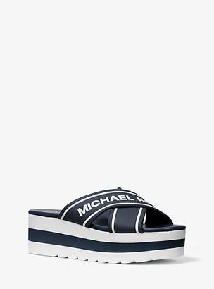 Michael Kors Demi Logo Tape Slide Sandal