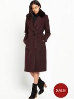 Vero Moda Jessica Long Wool Coat - Plum