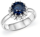 Roberto Coin Platinum Sapphire and Diamond Halo Ring