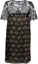 P.A.R.O.S.H. floral print pleated dress - women - Polyester/Polyamide/Cotton - S