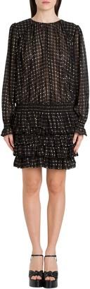 Saint Laurent Plumetis Short Dress