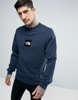 The North Face Fine Crew Sweat Light Square Logo in Navy