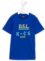 Diesel printed text T-shirt - kids - Cotton - 6 yrs