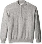 Izod Men's Big and Tall Saltwater Marled Waffle 1/4 Zip Sweater