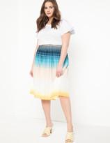 ELOQUII Pleated Midi Skirt