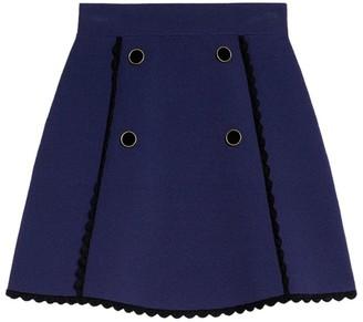 Sandro Paris A-Line Knit Skirt