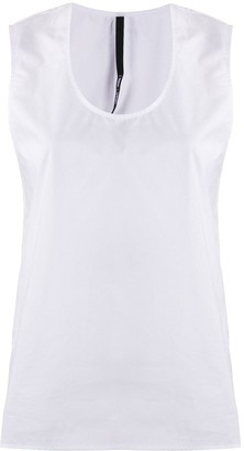 Sara Lanzi Scoop Neck Vest Top