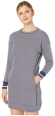 Vineyard Vines Varsity Sweatshirt Dress (Deep Bay Heather) Women's Dress