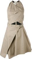 Carven asymmetric dress - women - Silk/Cotton/Acetate - 34
