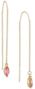 Rachel Roy Gold-Tone Pink Marquise Stone Threader Earrings