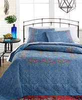 Peking Kelly Denim Quilted Standard Sham