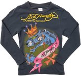 Ed Hardy Kids Girls Panther Long Sleeve T-Shirt