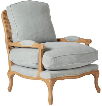 OKA Chantal French-Style Armchair - Blue