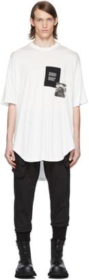 Julius White Patch Print T-Shirt