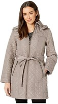 Vince Camuto Belted Houndstooth Quilt V29708 (Thistle) Women's Coat