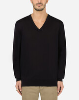 Thumbnail for your product : Dolce & Gabbana Cashmere v-neck sweater