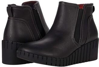 Skechers Pier Ave - Chelsea Wedge (Black/Black) Women's Boots