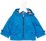 Burberry hooded rain jacket - kids - Polyamide/Polyester - 6 mth