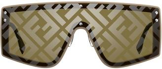 Fendi Eyewear Monogram Mask Frame Sunglasses