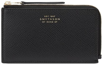 Smythson Panama grained-effect coin purse