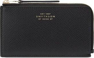 Smythson Panama grained-effect coin purse