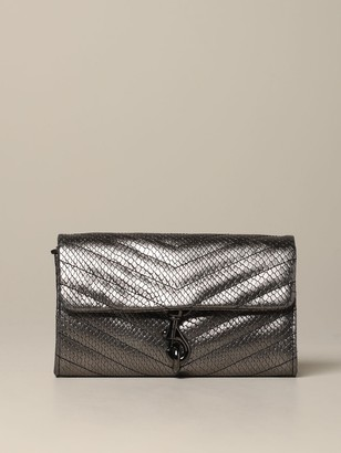 Rebecca Minkoff Mini Bag Edie Bag In Laminated And Quilted Leather