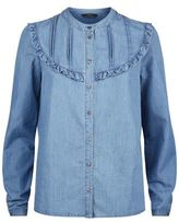 SET Ruffled Denim Blouse