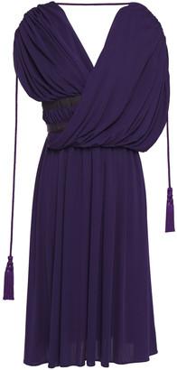 Lanvin Wrap-effect Tassel-trimmed Jersey Dress