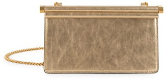 Valentino Small Carry Secrets Metallic Leather Clutch