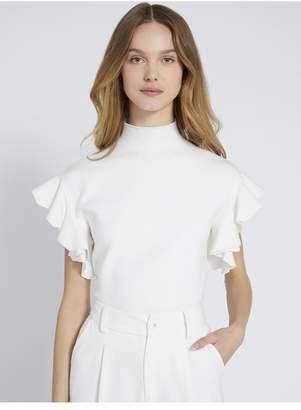 Alice + Olivia Maxine Ruffle Sleeve Sweater