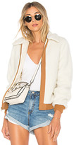 Lovers + Friends x REVOLVE Simone Faux Fur Jacket in Ivory. - size L (also in M,S,XL,XS)