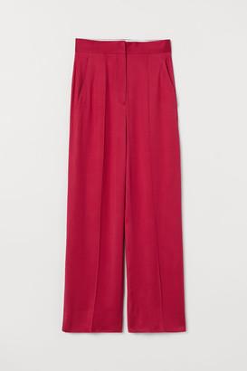 H&M Dressy Silk-blend Pants - Pink