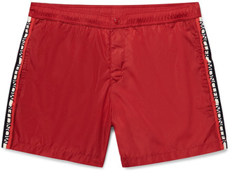 Moncler Mid-Length Grosgrain-Trimmed Swim Shorts