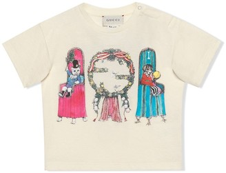Gucci Kids Yuko Higuchi print T-shirt