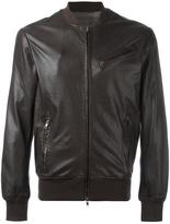 S.W.O.R.D 6.6.44 - zipped leather jacket - men - Cotton/Leather/Polyester - 50