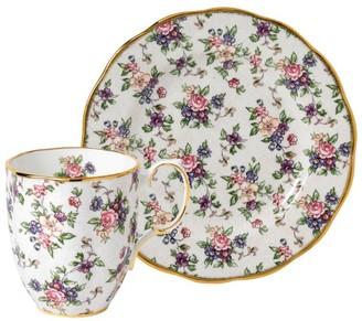 Royal Albert English Chintz Mug And Plate Set