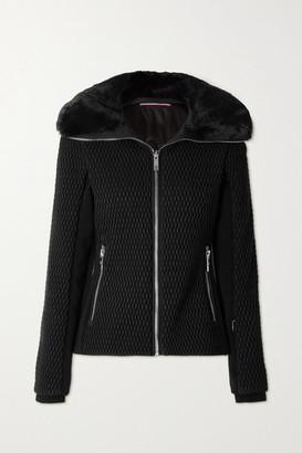 Fusalp Montana Iv Faux Fur-trimmed Quilted Ski Jacket - Black