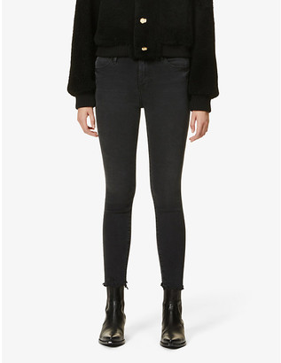 Frame Ladies Black Cotton Embroidered Le High Skinny High-Rise Jeans, Size: 23