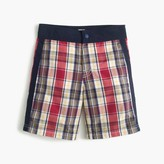 J.Crew Boys' snap-front board short in madras