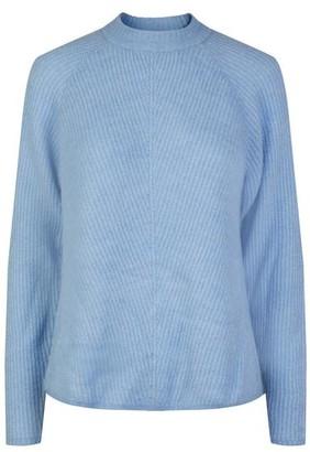 Y.A.S Powder Blue Allu Ls O Neck Knit Pullover - XS